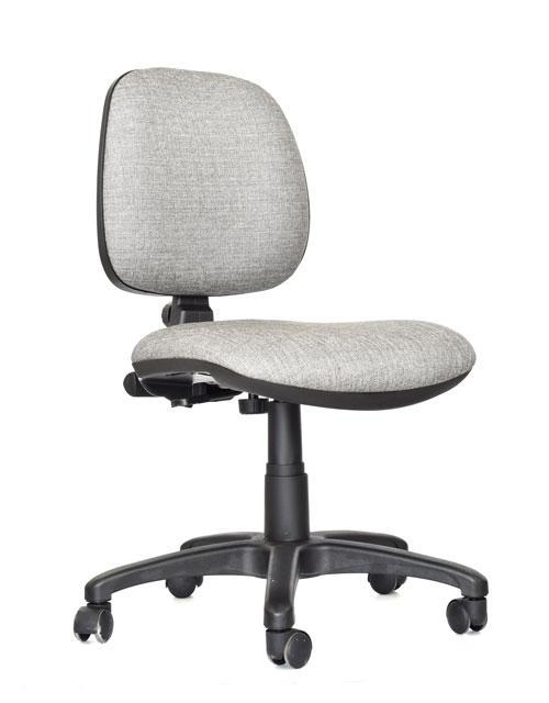 Silla rudy media tapizada silla tapizadas provefabrica for Sillas altas giratorias para oficina